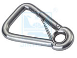 SF-2470R Oblique Angle Snap hook with Eyelet and Lock