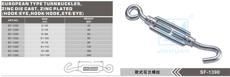 SF-1390 Europe Type Turnbuckle
